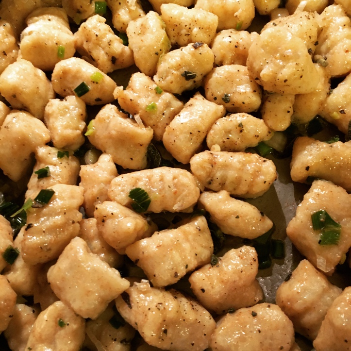 gnocchi with browned butter sauce