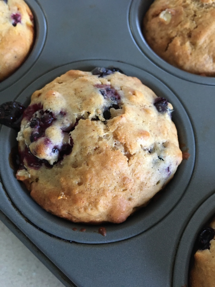 blackberry-blueberry muffins